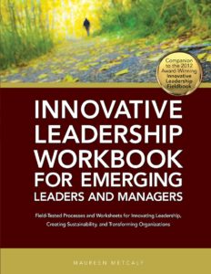 Book Cover: Innovative Leadership Workbook for Emerging Leaders and Managers